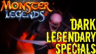 Monster Legends | All Dark Legendary Monsters Special Skills | Ultimate Attacks