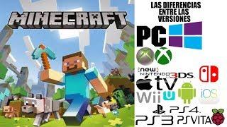 Las Diferencias entre las versiones de Minecraft
