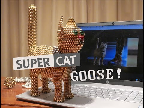 Nanodots® Captain Marvel - Carol Danvers's Cat Goose Made Out Of Magnets!