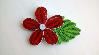How To Make A Beautiful Quilling Flower And Leaf. - DIY Crafts Tutorial - Guidecentral