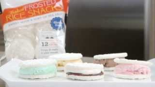 Frosted Rice Snacks Ice Cream Sandwich And S'mores Sandwich