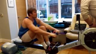 Phil Clapp 500M indoor rowing world record 2017