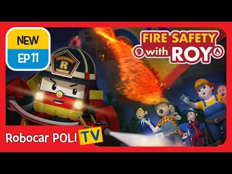 🔥Fire safety with Roy | EP11 | Never Move a Fire Extinguisher | Robocar POLI | Kids animation