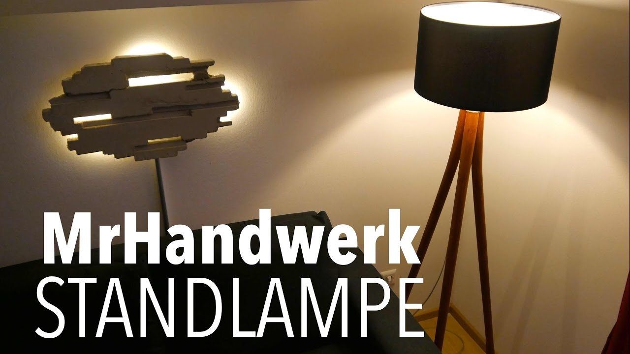diy lampe aus schaufelstielen bauen anleitung mrhandwerk youtube. Black Bedroom Furniture Sets. Home Design Ideas