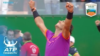 Rafael Nadal wins tenth title in Monte-Carlo | Monte-Carlo Rolex Masters 2017 Final Highlights