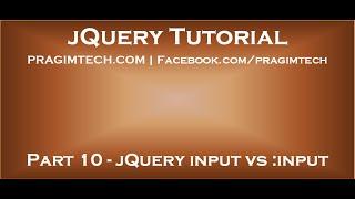 jQuery input vs input