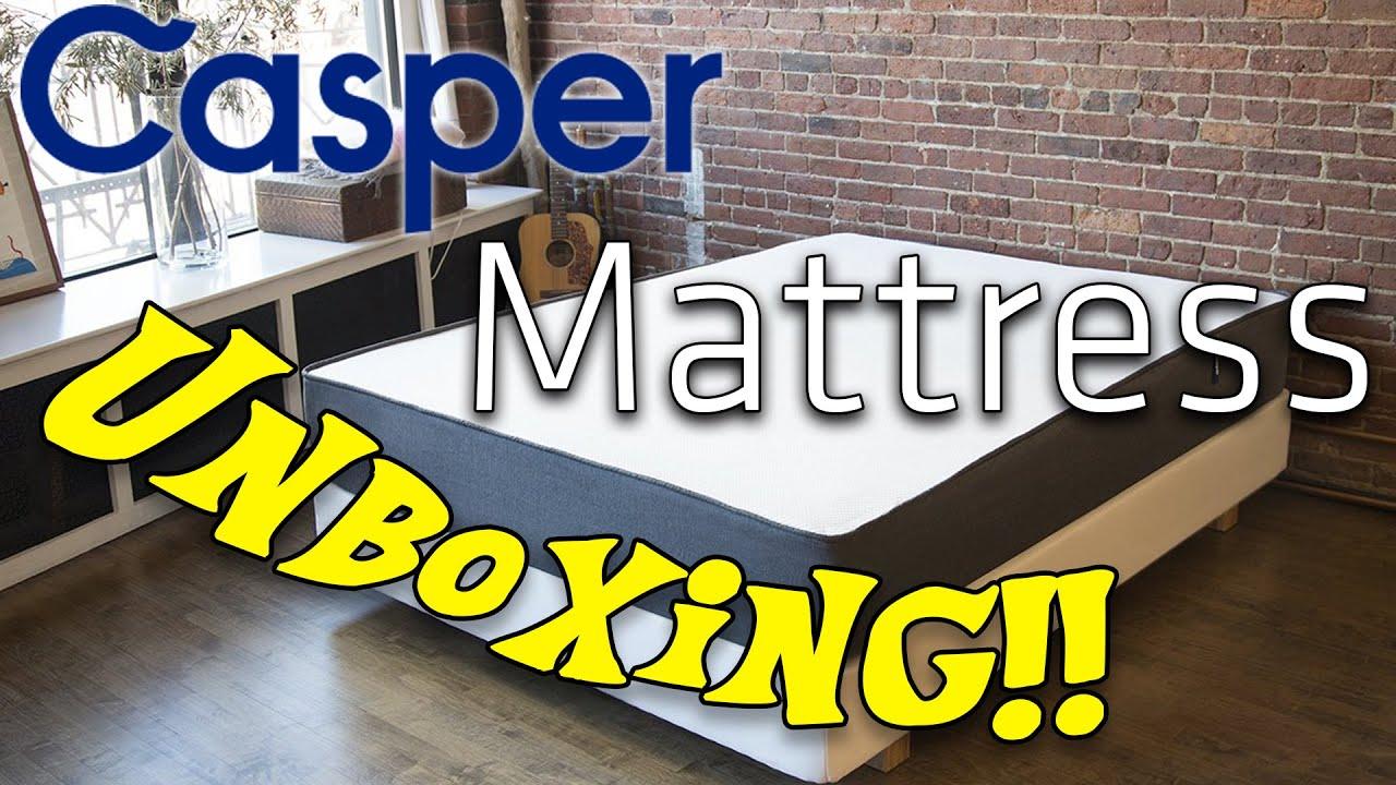 casper mattress unboxing!! (full size casper mattressing unboxing