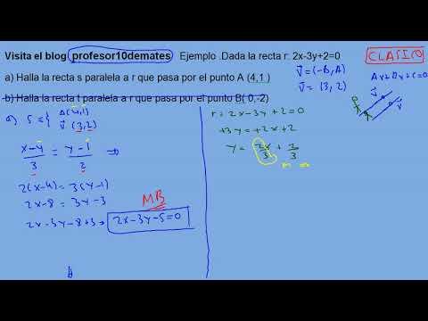 Rectas Paralelas Y Perpendiculares Ejercicios 01 Resueltos Youtube