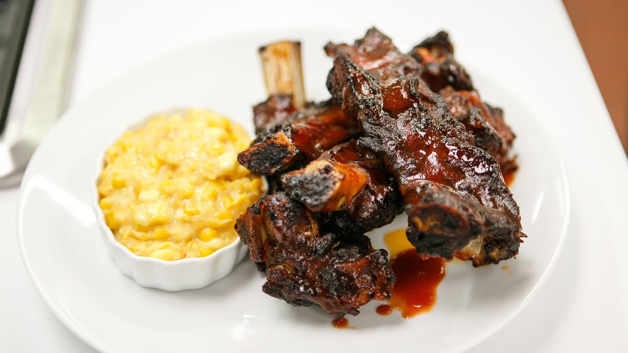 healthy bbq ribs and creamed corn recipe rehab tv season