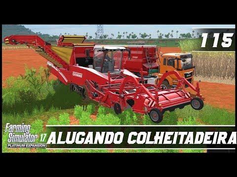 ALUGANDO UMA COLHEITADEIRA DE BATATAS! | FARMING SIMULATOR 17 PLATINUM EDITION #115 | PT-BR |