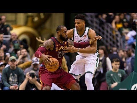 LeBron James Inbound Off Giannis Back! Cavs vs Bucks 2017-18 Season