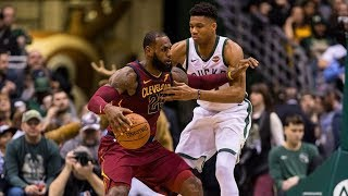 LeBron James Inbound Off Giannis Back! Cavs vs Bucks 2017-18 Season
