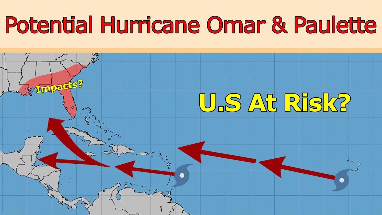 Potential Hurricane Omar Paulette Forecast Youtube