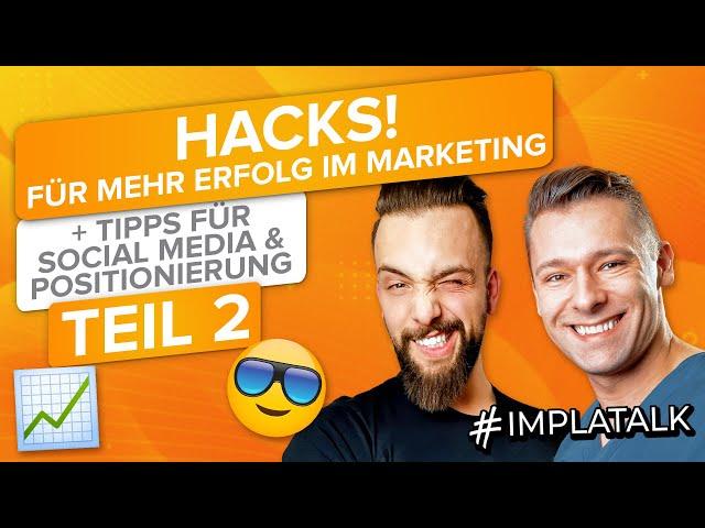 Hacks für mehr Erfolg im Marketing, Social Media & Positionierung (Interview Teil 2)