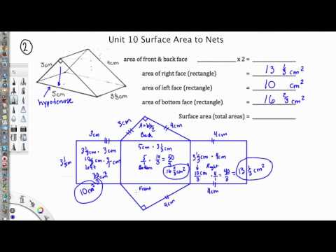 Using Nets to find Surface Area