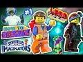 SKYLANDERS IMAGINATORS CREATION of LEGO EMMET & WYLDSTYLE LEGO MOVIE Game (How to Create Recipe #1)