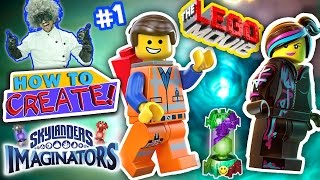 SKYLANDERS IMAGINATORS CREATION of LEGO EMMET & WYLDSTYLE LEGO MOVIE Game (How to Create Recipe #1)