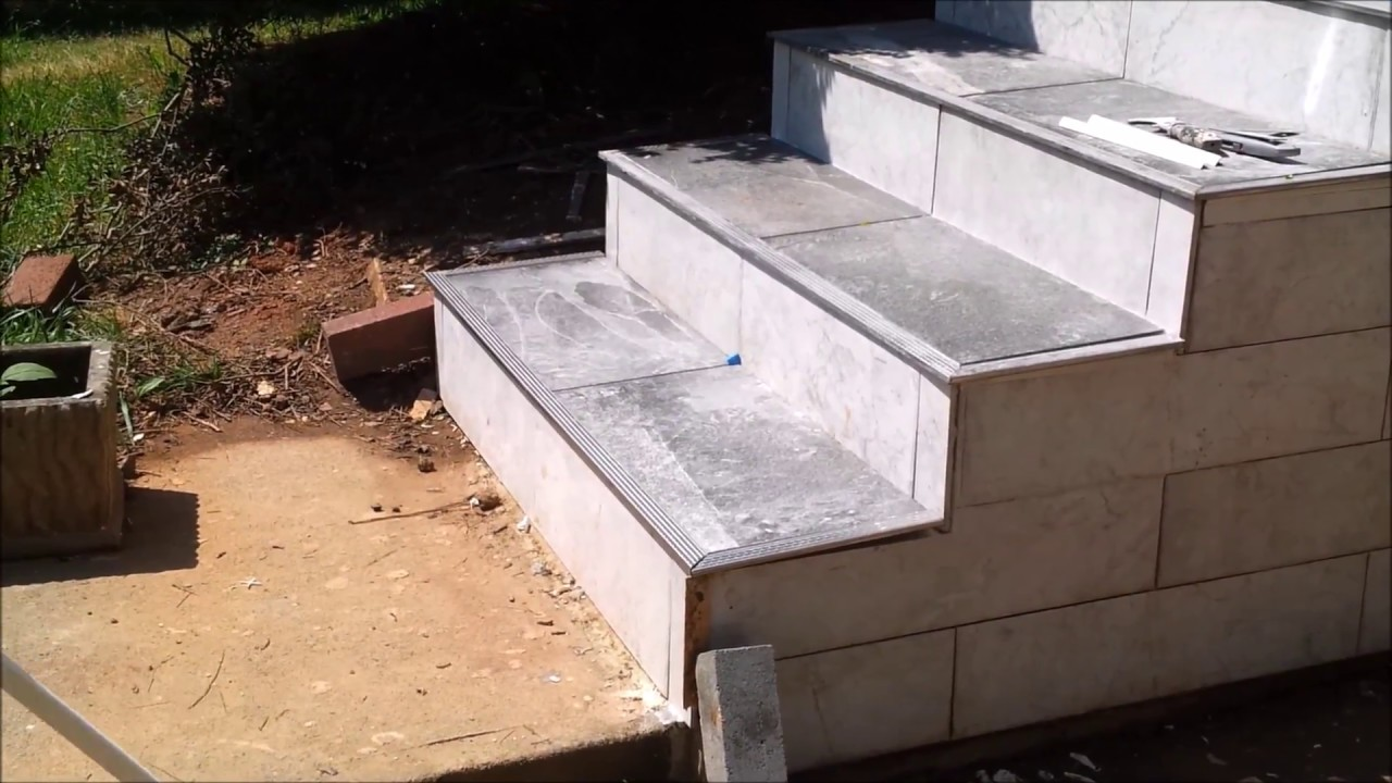 How To Tile An Outdoor Concrete Stairs Part 3 Tile