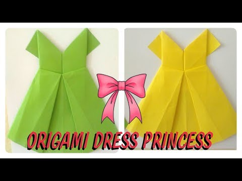 How To Make Paper Dress | Origami Disney Princess Dress | DIY | Paper Craft decoration