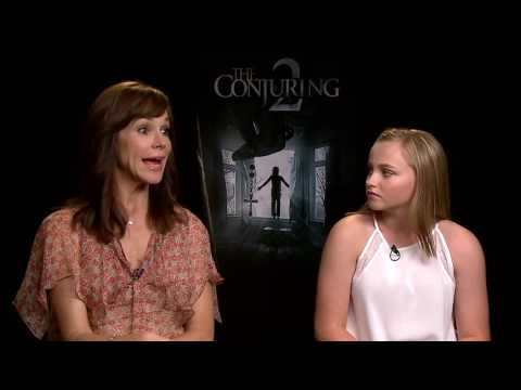 The Conjuring 2: Frances O'Connor & Madison Wolfe Official Movie Interview