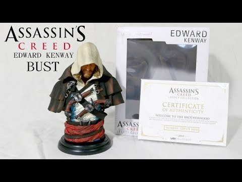 Assassin's Creed Black Flag Edward Kenway Bust Unboxing and Detailed look
