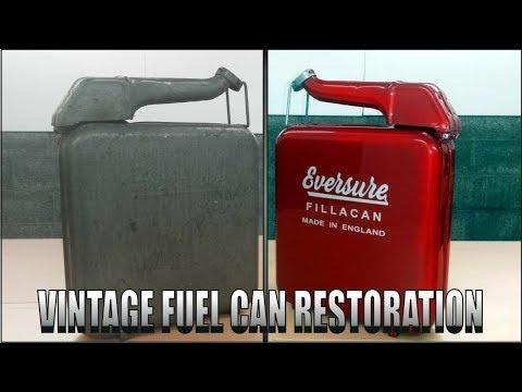 Weird 1950's era Fuel Can Restoration.