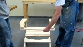 Pine Adirondack Chair Kit Assembly