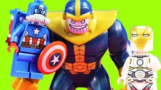 Lego Avenjet Space Mission Review With Iron Man Captain Marvel Thanos & Hyperion Minifigures