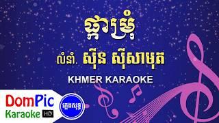 ផ្កាម្រុំ ស៊ីន ស៊ីសាមុត ភ្លេងសុទ្ធ - Pka Mrum Sin Sisamuth - DomPic Karaoke