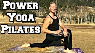 40 Min POWER YOGA + PILATES WORKOUT - Sean Vigue Fitness