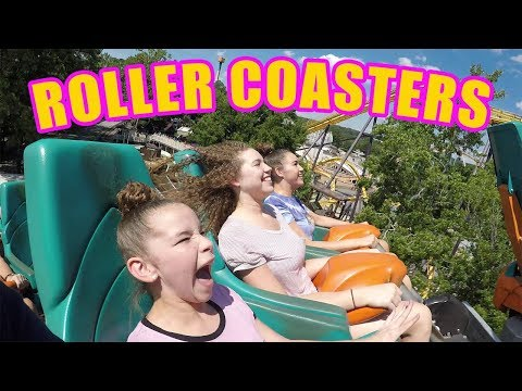SCARY ROLLER COASTERS! EXTREME FAMILY FUN! (Haschak Sisters)
