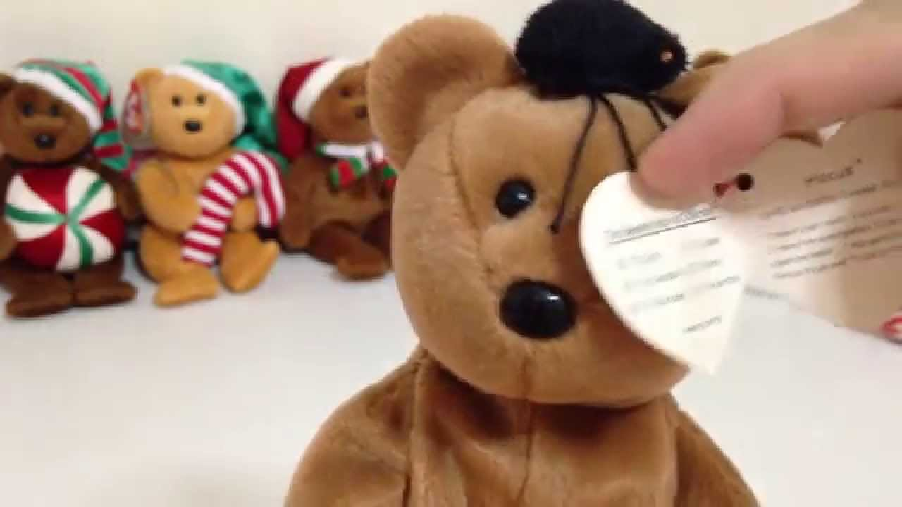 b3acd3f7669 Ty Beanie Babies Hocus - Halloween Bear - YouTube