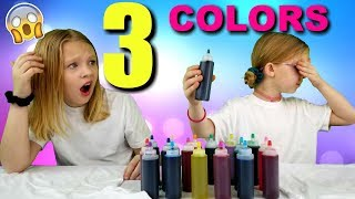 3 Color Tie Dye Challenge!!!