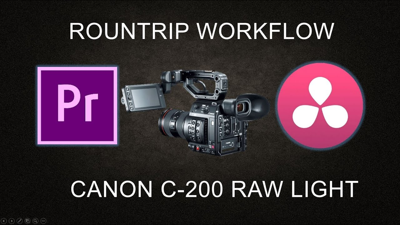 Canon C200 RAW Light: Roundtrip Premiere Pro to Davinci Resolve Color  Grading Workflow