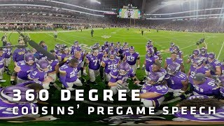 360° Look at Kirk Cousins' Pregame Speech vs. Green Bay Packers | Minnesota Vikings