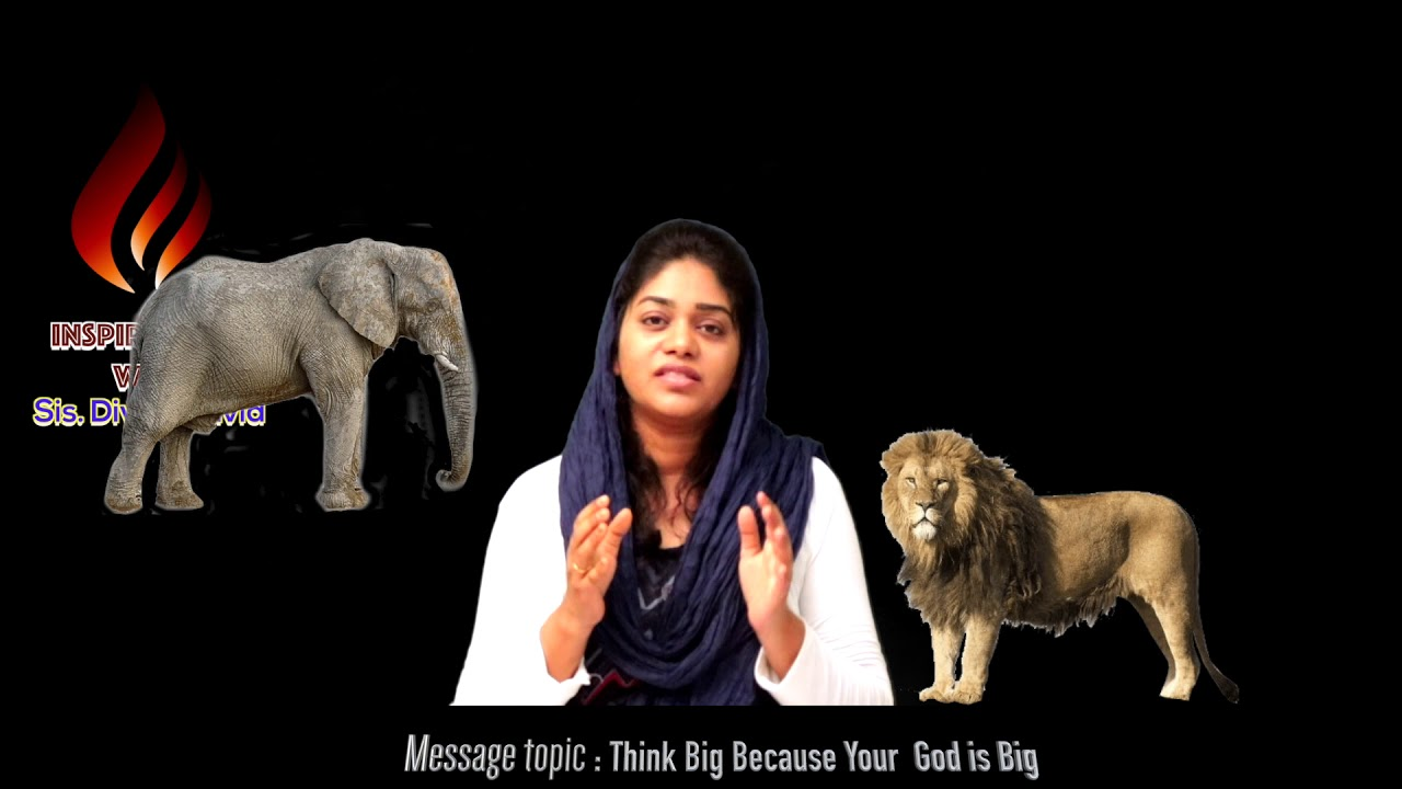 Think Big | English short messages | Sis. Divya David