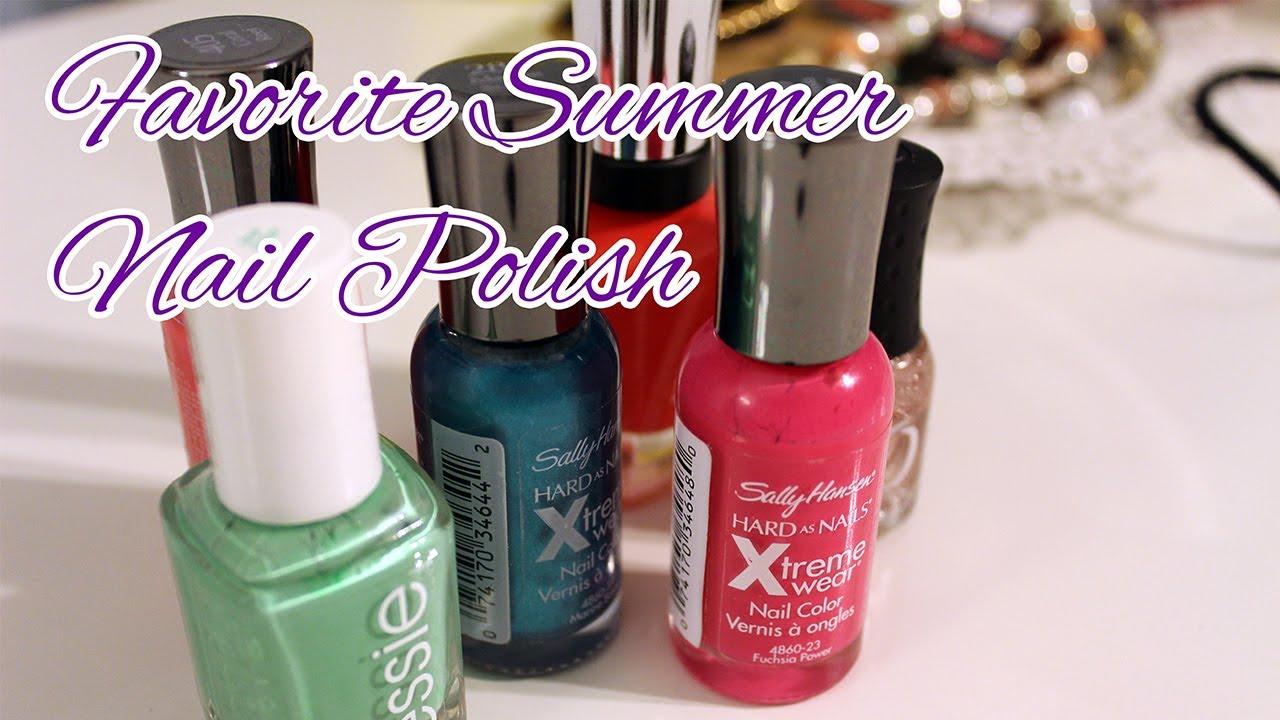 Summer 2014 Nail Polish Favorites Youtube