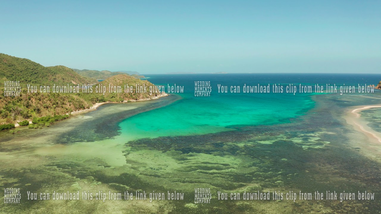 Lagoon Tropical Island: Tropical Island With Blue Lagoon