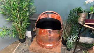 Hammered Copper Finish Traditional Coal Bucket