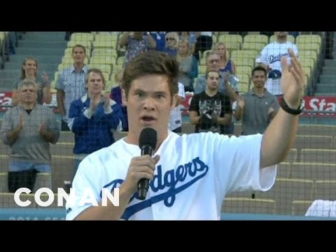 Adam DeVine's Intense National Anthem Face