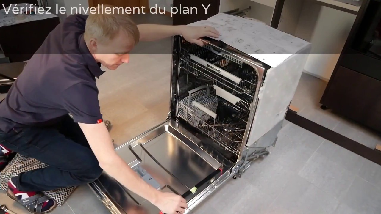installez votre lave vaisselle integrable porte a glissieres asko electromenager