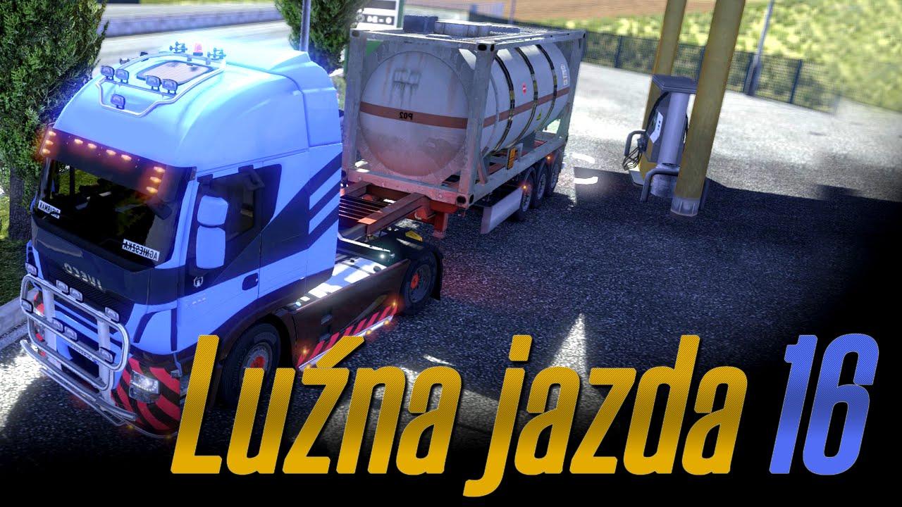 Luźna jazda w Euro Truck Simulator 2 - #16 - Kilka stłuczek i odpowiedzi na pytania :)