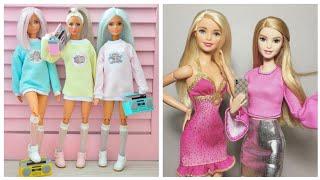 Barbie elbise yapımı | DIY | Çoraptan kendin yap ~ 5 dakikada hallet / Barbie kıyafet yapımı
