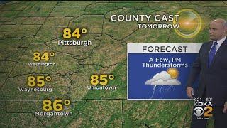 KDKA-TV Evening Forecast (6/25)
