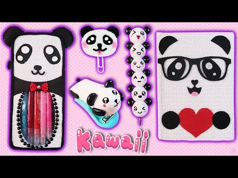 ♥ DIYS: Decora tus útiles escolares con Ositos Panda || Back to School Panda Supplies ♥