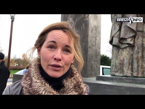 Ploërmel. Manifestation pour la croix de Jean-Paul II