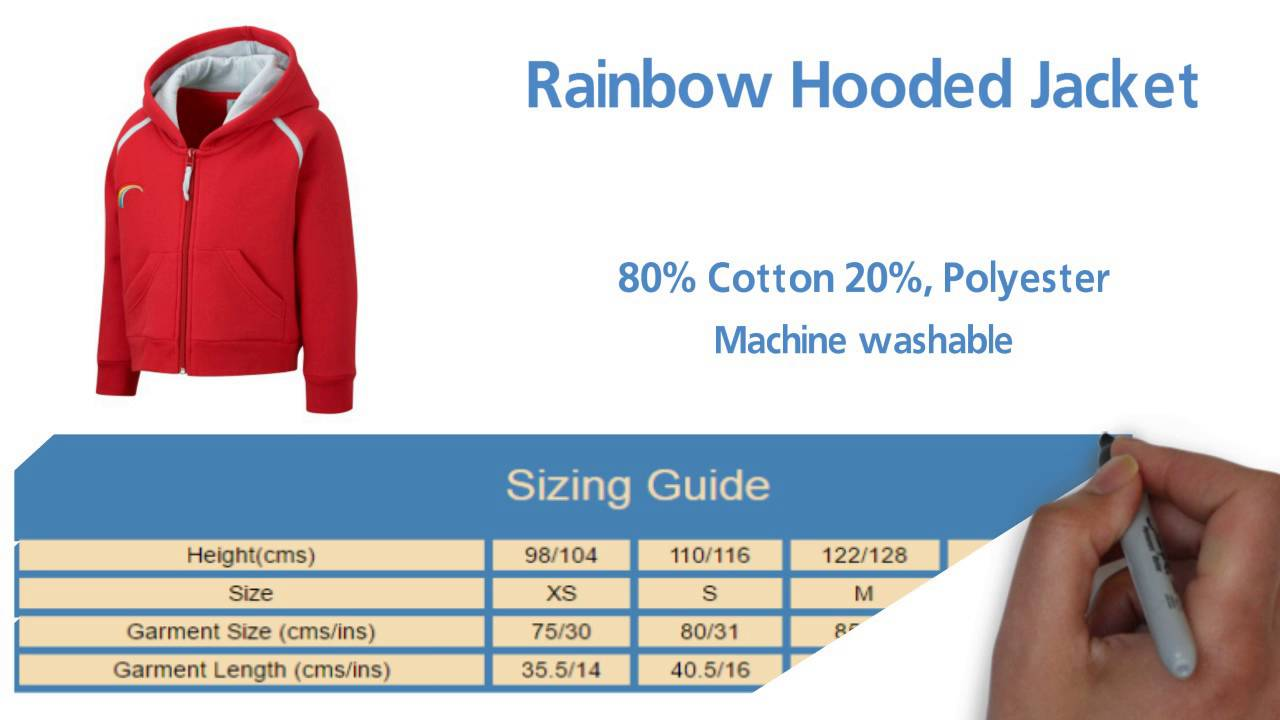 Sizing charts clothing, boots, hats, gloves.
