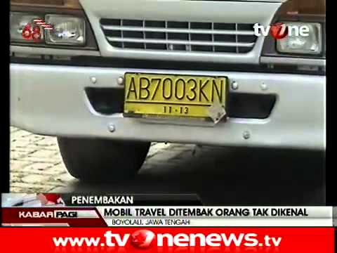 Mudik dari semarang, Mobil Travel jakarta Di tembaki