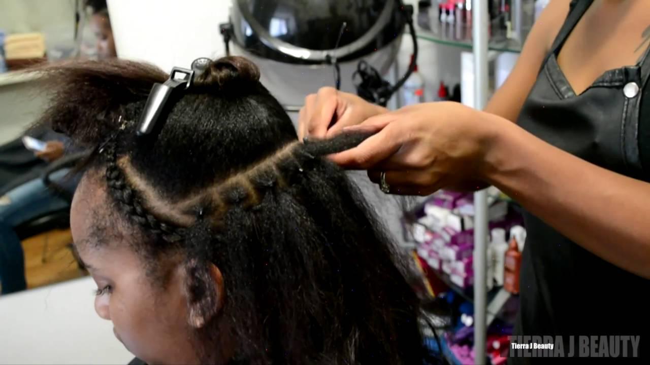 Braidless Sew In Salonwork Youtube