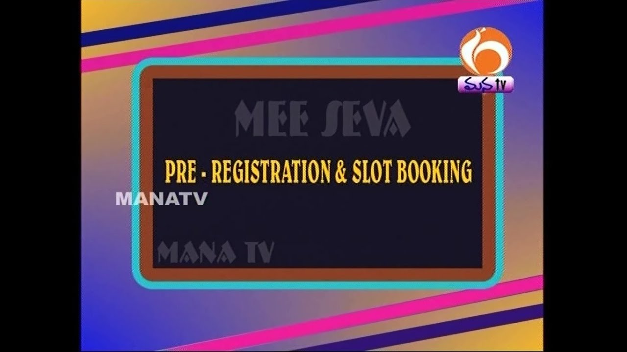 Online slot booking for registration